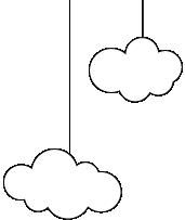 שני עננים מצוירים בשחור לבן